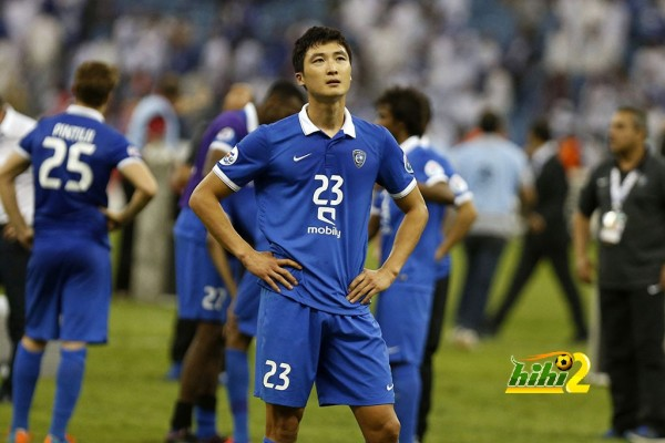Kwak Tae-Hwi of Saudi Arabia's Al Hilal reacts after losing second-leg soccer match of Asian Champions League final to Australia's Western Sydney Wanderers at King Fahd International Stadium in Riyadh